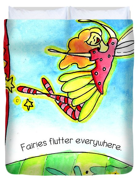 Fairies Flutter Everywhere Duvet Cover