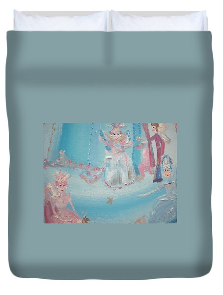 Fairy Godmother Convention Duvet Cover by Judith Desrosiers