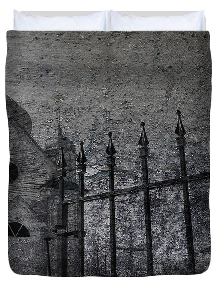 Faith Of Stone  Duvet Cover by Jerry Cordeiro