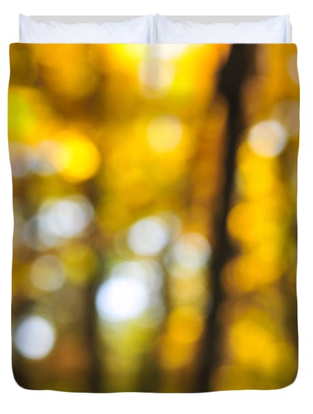 Fall Abstract Duvet Cover by Elena Elisseeva