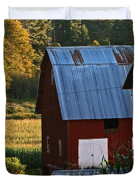 Fall Barns Duvet Cover