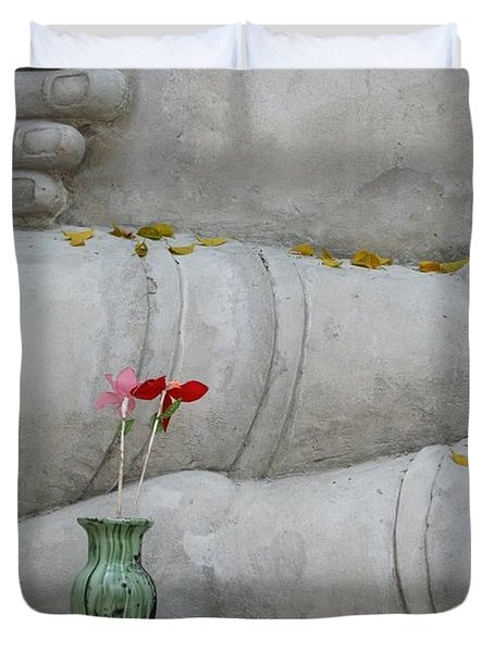 Fall Buddha #1 Duvet Cover by Nola Lee Kelsey