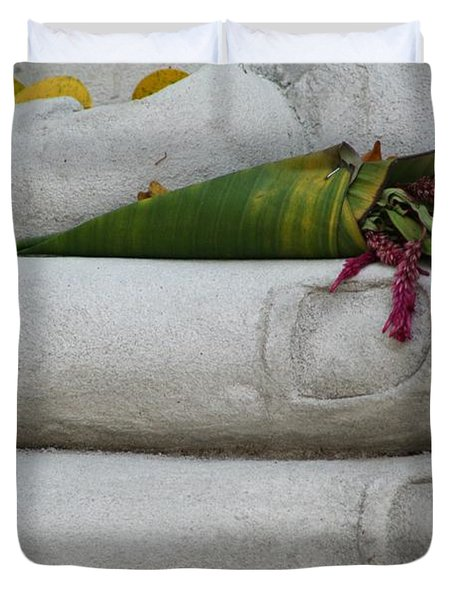 Fall Buddha #2 Duvet Cover by Nola Lee Kelsey