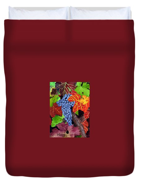 Fall Cabernet Sauvignon Grapes Duvet Cover