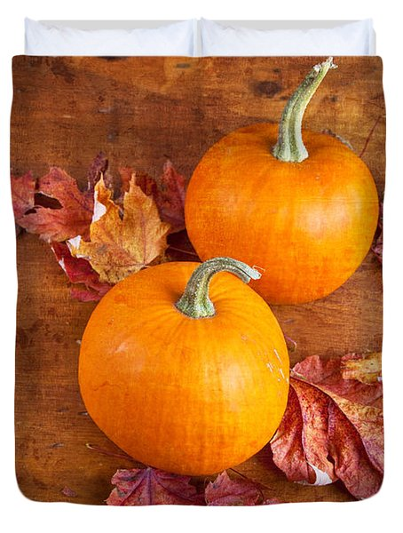 Fall Decorative Pumpkins Duvet Cover by Verena Matthew