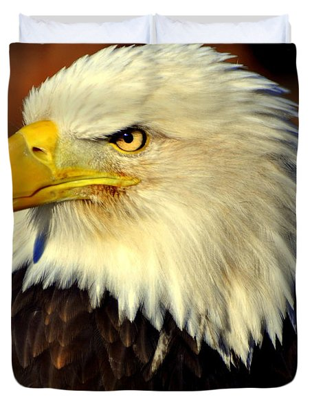 Fall Eagle 5 Duvet Cover by Marty Koch