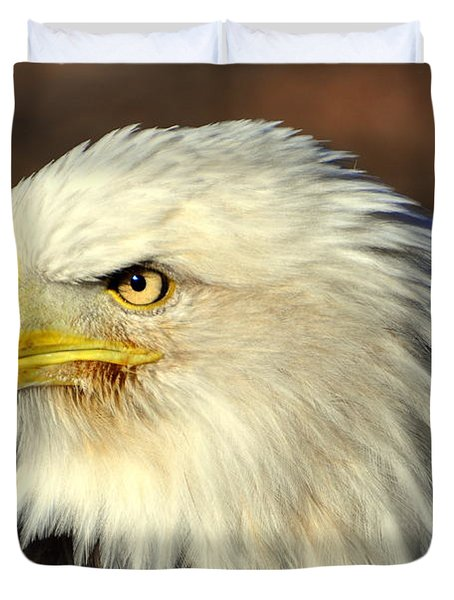 Fall Eagle 6 Duvet Cover by Marty Koch