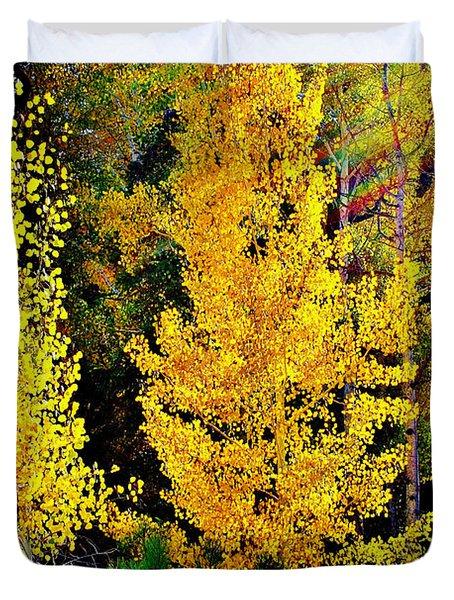 Fall Fantasy Duvet Cover by Ellen Heaverlo