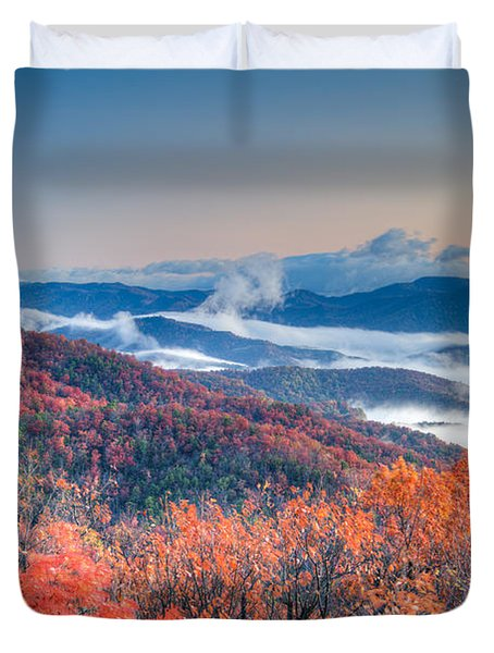 Fall Fog 1 Duvet Cover