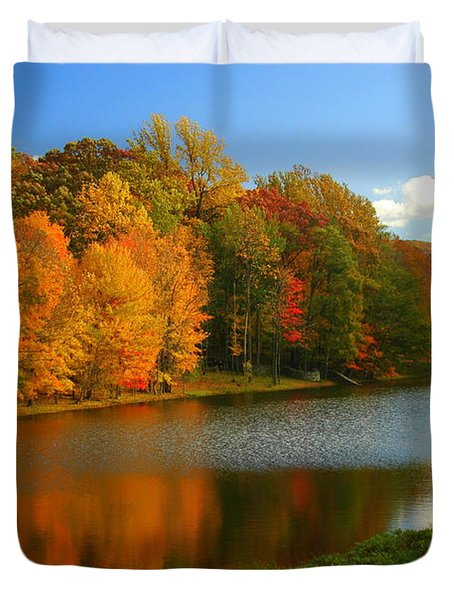 Fall In New York State Duvet Cover