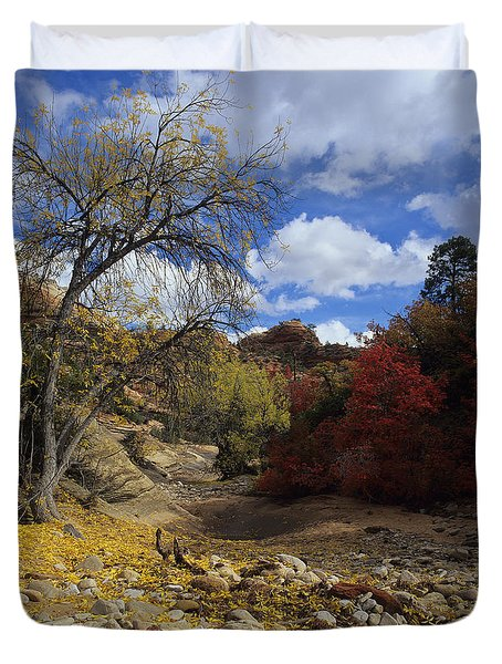 Fall In Zion High Country Duvet Cover