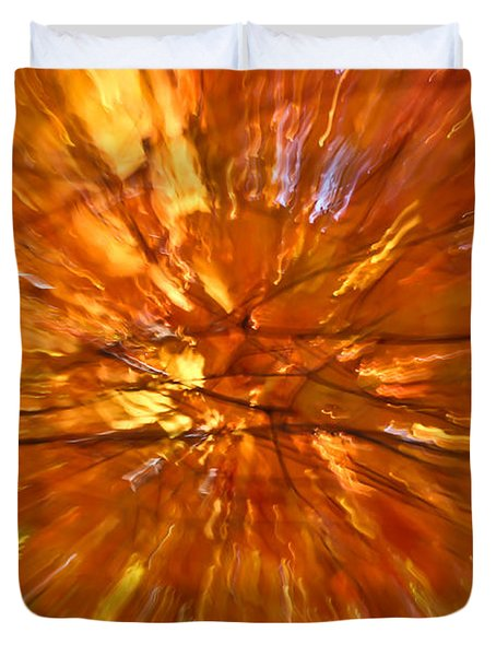 Fall Inside Out Duvet Cover by Rachel Cohen