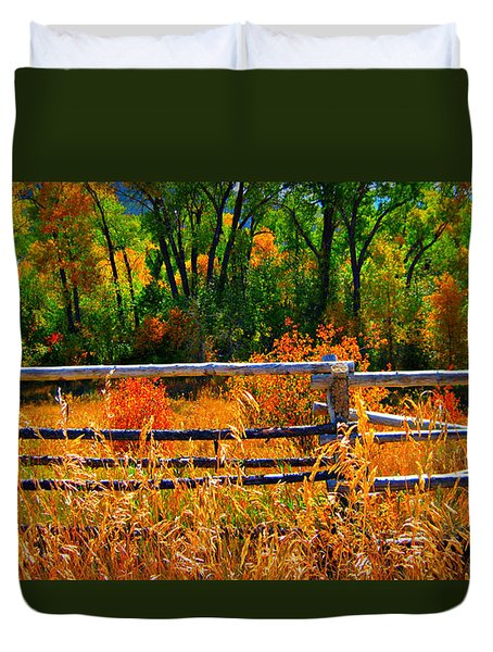 Duvet Cover featuring the photograph Fall  by Janice Westerberg