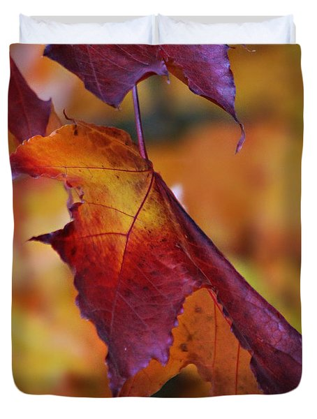 Fall Leaf Duvet Cover by Jeanette C Landstrom