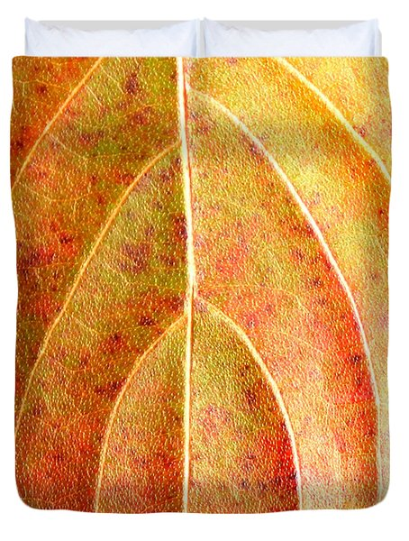 Fall Leaf Upclose Duvet Cover