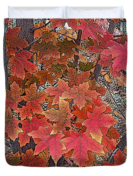 Fall Red Duvet Cover