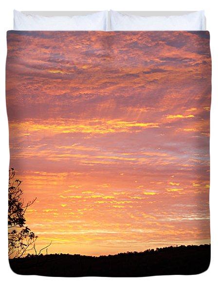 Fall Sunrise Duvet Cover