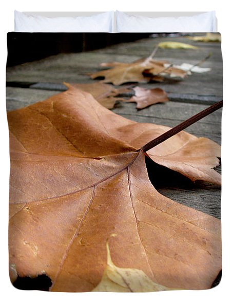 Fallen Leaf Duvet Cover by Jack Schultz