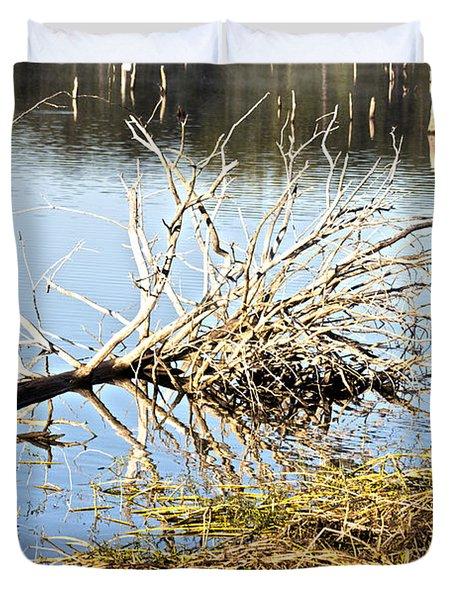 Fallen Tree Duvet Cover by Douglas Barnard