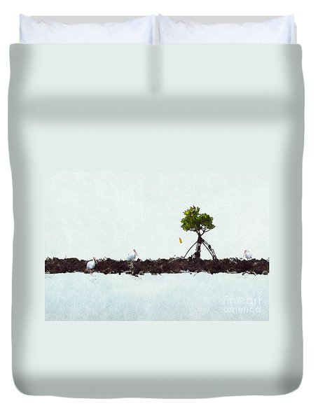 Duvet Cover featuring the photograph Falling Mangrove Leaf by Dan Friend