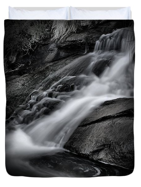 Falls Black And White Duvet Cover