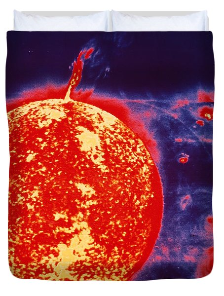 False-color Skylab Image Of A Solar Duvet Cover by NASA / Science Source
