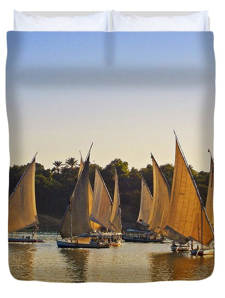 Faluccas On The Nile Duvet Cover