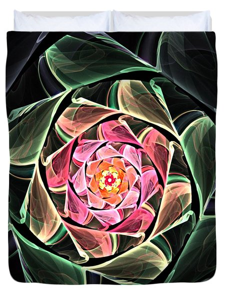 Fantasy Floral Expression 111311 Duvet Cover by David Lane