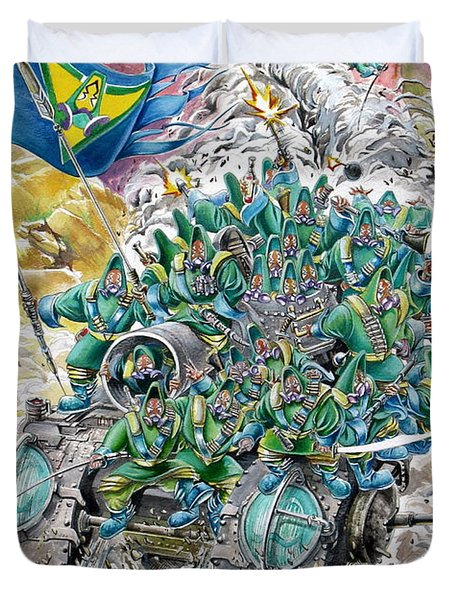 Fantasy Tank Running Wild Duvet Cover by Fabrizio Cassetta