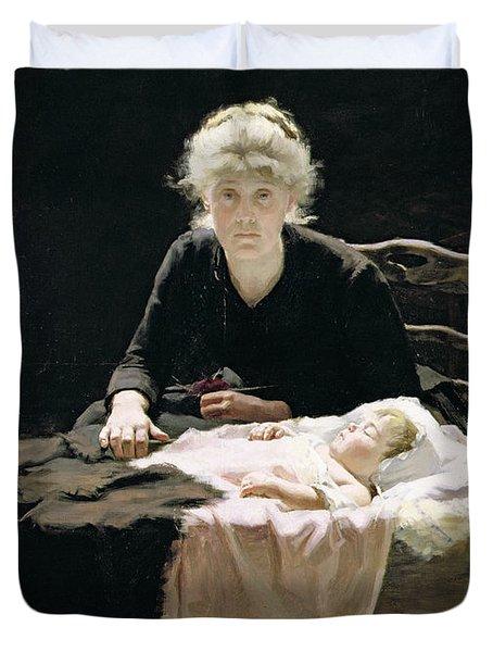 Fantine Duvet Cover by Margaret Hall