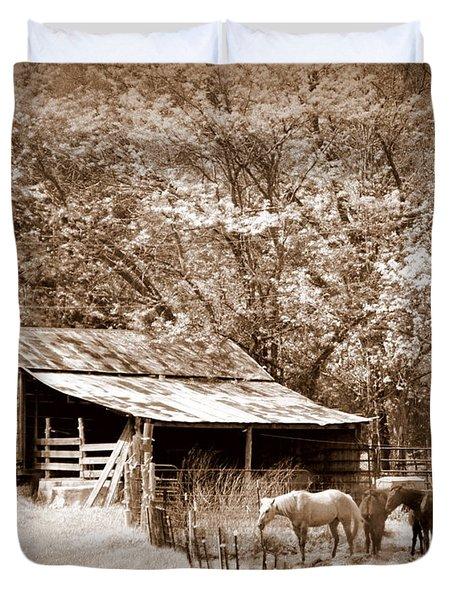 Farm And Barn Duvet Cover by Marty Koch