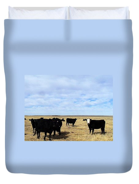 Farm Friends Duvet Cover by Clarice  Lakota
