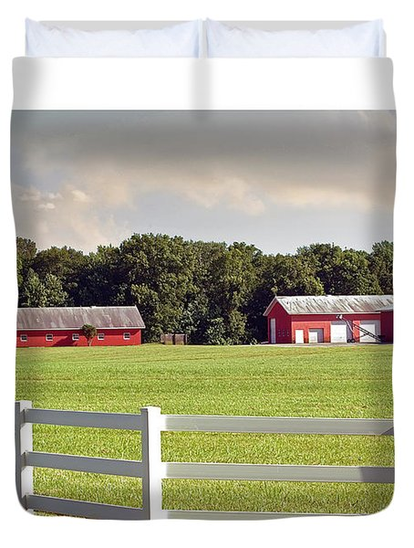 Farm Pasture Duvet Cover by Brian Wallace