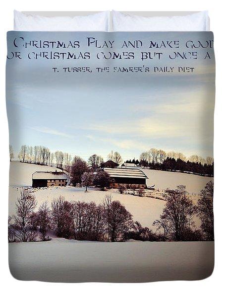 Farmer's Christmas Duvet Cover by Sabine Jacobs