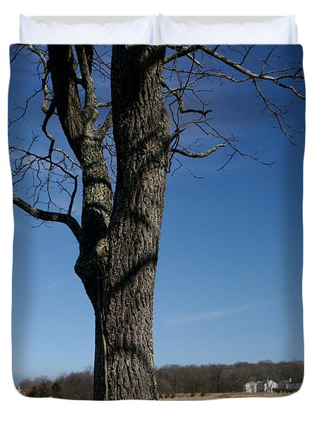 Duvet Cover featuring the photograph Farmland Versus Development by Karen Lee Ensley