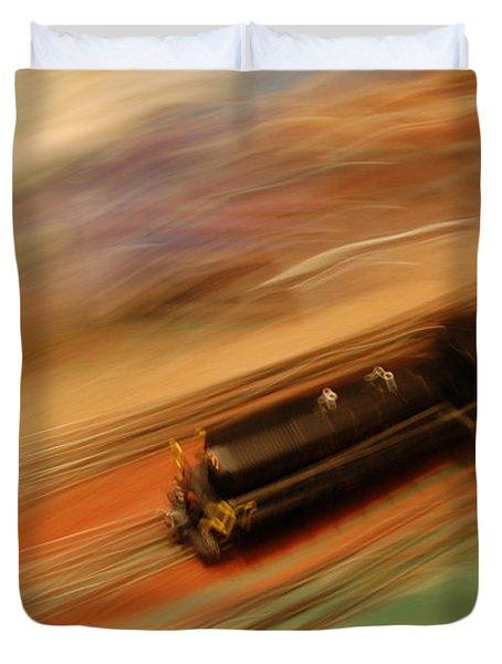 Fast Train Set Duvet Cover