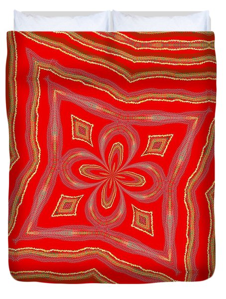 Duvet Cover featuring the digital art Favorite Red Pillow by Alec Drake