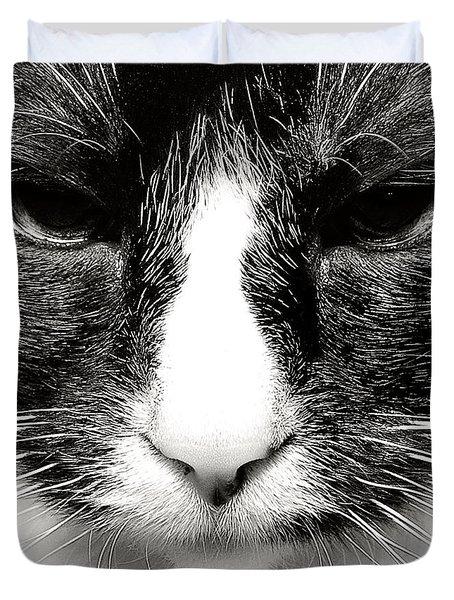 Fearless Feline Duvet Cover