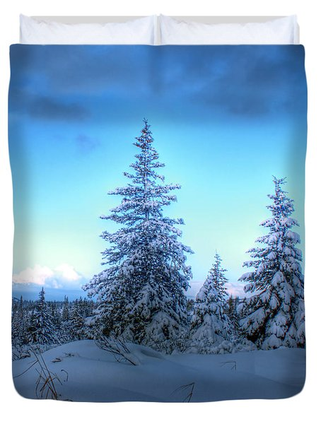 Duvet Cover featuring the photograph Feeling Blue by Michele Cornelius