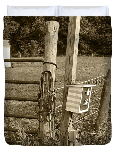 Fence Post Duvet Cover by Jennifer Ancker