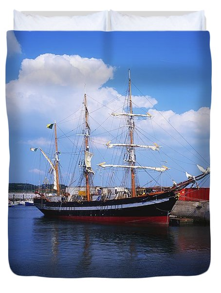 Fenit, Co Kerry, Ireland Famine Ship Duvet Cover by The Irish Image Collection