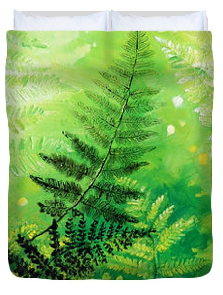Ferns 4 Duvet Cover by Hanne Lore Koehler