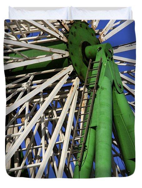 Ferris Wheel  Duvet Cover by Stelios Kleanthous