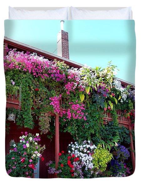 Festooned In Flowers Duvet Cover by Will Borden
