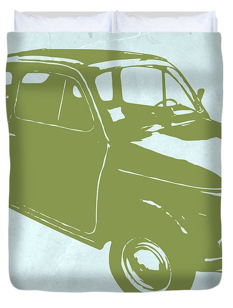 Fiat 500 Duvet Cover by Naxart Studio
