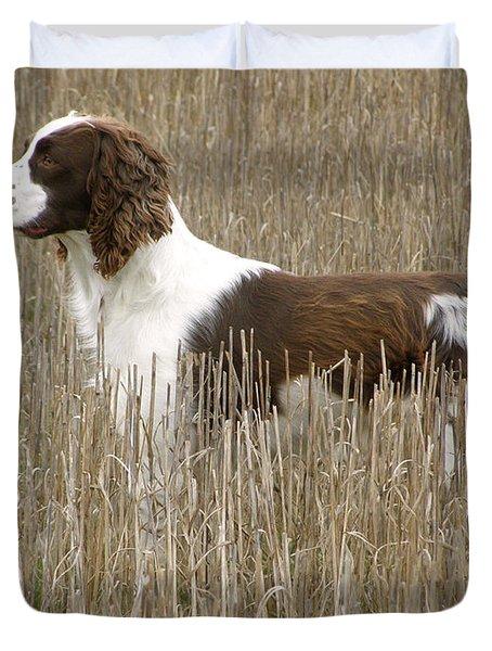 Field Bred Springer Spaniel Duvet Cover