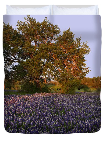 Field Of Blue Duvet Cover