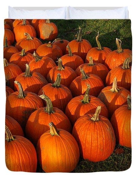 Field Of Pumpkins Duvet Cover by LeeAnn McLaneGoetz McLaneGoetzStudioLLCcom