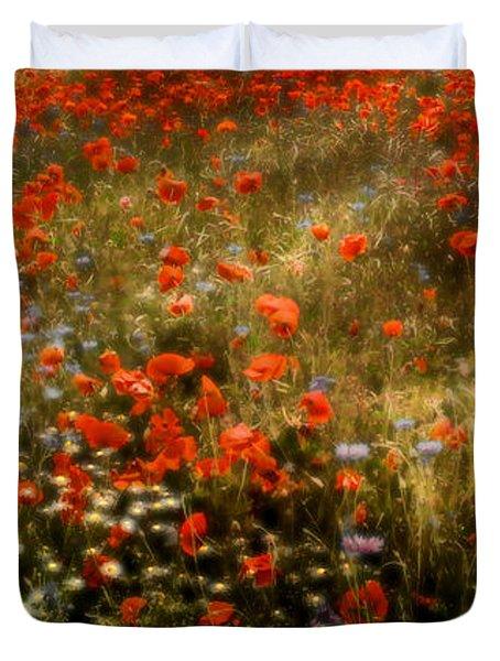 Field Of Wildflowers Duvet Cover