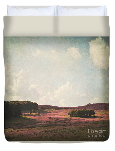 Fields Of Heather Duvet Cover